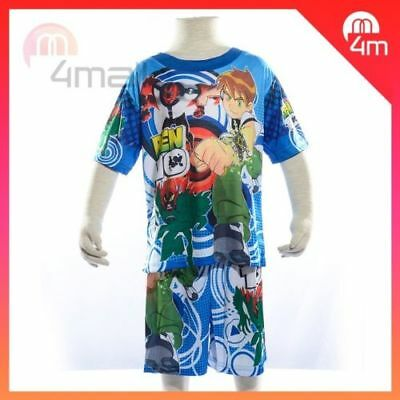 Boys Kids Ben 10 Summer Short Sleeve Pyjamas PJ Nightie Outfits T-shirt Set Sz