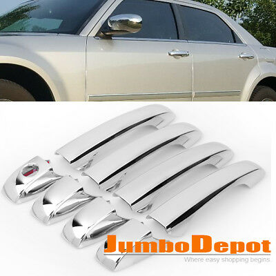 New Set For 2005-2010 Chrysler 300/300C Mirror Chrome Door Handle Cover Keyhole