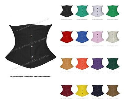 84cbb80f8c Heavy Duty Double Steel Boned Waist Cincher Tight Lacing Waspie Underbust  Corset