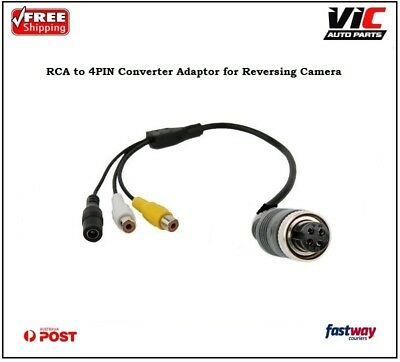 RCA Female to 4PIN Converter Adaptor for Reversing Camera