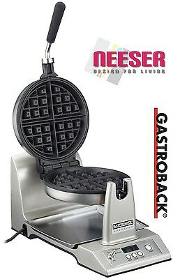 GASTROBACK design waffle maker Advanced electric 42419 for belgium waffles NEW