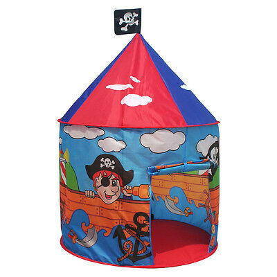 Charles Bentley Children's Boys Blue Pirate Round Play Tent Indoor Outdoor Use