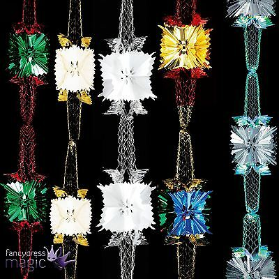 2.7m X 20cm 4 Section Pull Out Garland Foil Ceiling Hanging Christmas Decoration