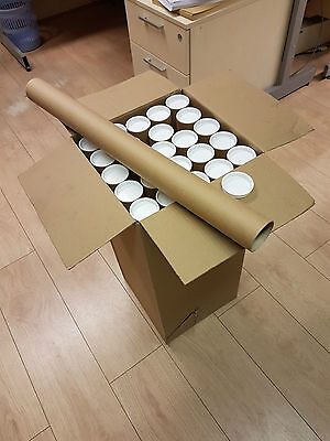 25 Strong, Thick Postal Tubes With End Caps (610mm X 50mm) / Cheapest on eBay!
