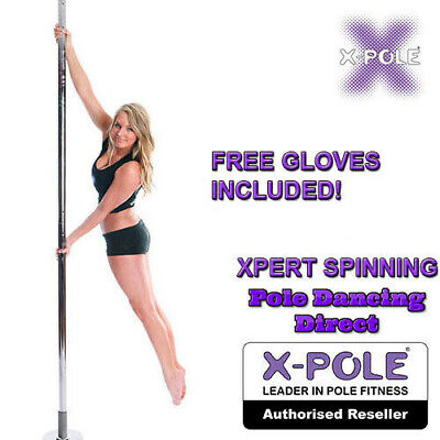 OFFICIAL XPOLE XPERT Spinning Portable Professional Dancing Pole - FREE GLOVES