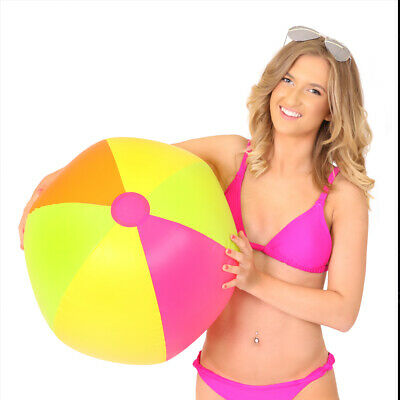 "22"" Huge Inflatable Blow Up Beach Ball Holiday Swimming Pool Beach Party Toy"
