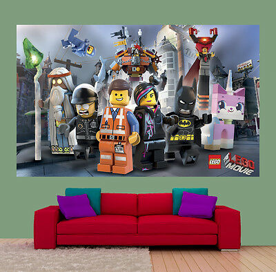 Wallpaper Mural Lego Movies for kids 210x118cm, Kids room, 4 panels
