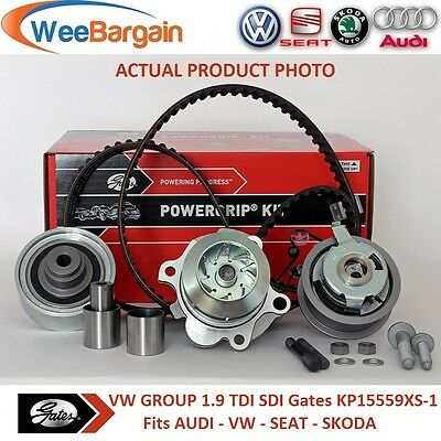 VW Group 1.9 TDI SDI 8v Engines GATES KP15559XS-1 Timing Belt Kit and Water Pump