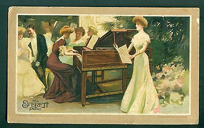 1907 The Everette Piano Advertising Trade Card