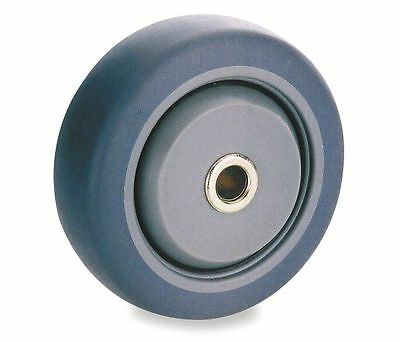 "5"" Caster Wheel, 200 lb. Load Rating, Wheel Width 1-1/4"", Rubber, Fits Axle 3/8"""