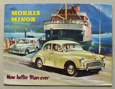 MORRIS MINOR 1000 Car Sales Brochure Aug 1957 #H&E 57-60 SALOON Tourer TRAVELLER