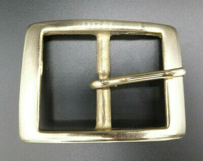 "Strong 1.5"" [38 mm] SOLID BRASS Full Rectangle Belt Buckle Leather craft"