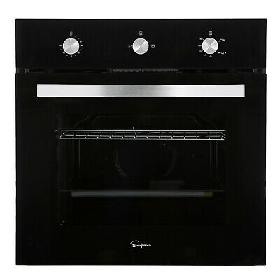 "Empava 24"" Tempered Glass Built-in Single Gas Wall Oven 1800W Black"