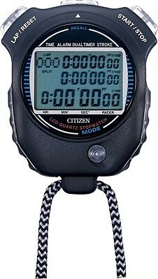 CITIZEN Stop Watch 058 LC058-A02 Track Field Swimming Black New Japan