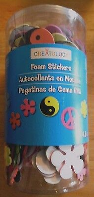 Creatology Foam Stickers Peace and Flowers  4.5 oz