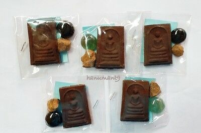 Phra Somdej Gemstone Leklai Nam Phi Amulet Buddha Thai Powerful Rare Lp Watchedi