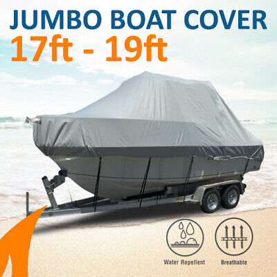 Heavy-Duty, Marine Grade 17ft-19ft / 5.2m-5.8m Trailerable Jumbo Boat Cover