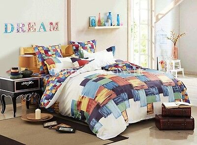 T530 100% Cotton Queen/King/Super King Size Bed Duvet/Doona/Quilt Cover Set New