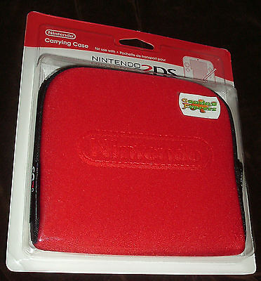 Official Nintendo 2DS Console Carrying Travel Case - Red NEW SEALED