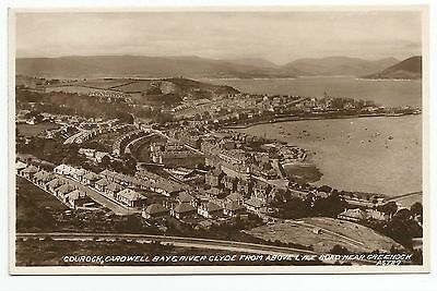 POSTCARD-SCOTLAND-GOUROCK-RP. Cardwell Bay & The River Clyde, from The Lyle Road