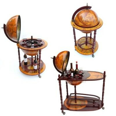 FoxHunter Globe Shaped Mini Bar Drinks Cabinet Retro Style Trolley Bottles New