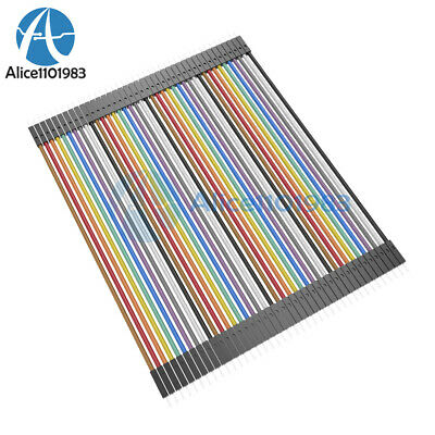 Durable 40pcs Dupont 10CM Male To Male Jumper Wire Ribbon Cable for Breadboard