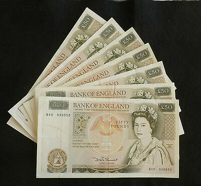 Somerset Christopher Wren £50 Banknote (Issued 1981 - 88) In Clean EF Condition