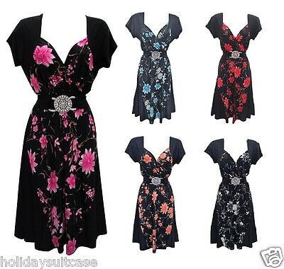 Size 12-26 UK Ladies womans evening party summer holiday panel contrast dress