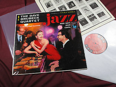 Dave Brubeck Quartet  JAZZ: RED HOT AND COOL  LP Columbia 6-eye CL 699 USA 1955