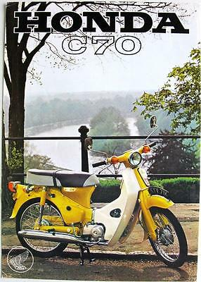 HONDA C70 - Motorcycle Sales Spec Sheet - 1972 - #6/72/70M