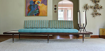 (NEW UPHOLSTERY!) Mid Century Adrian Pearsall Style Platform Sofa