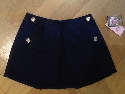 NWT Juicy Couture New & Genuine Girls Age 8 Blue Pleated Skirt With Juicy Logo