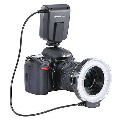 FC-100 LED Macro Ring Flash Light for Canon Nikon Pentax Olympus DSLR Camera USA