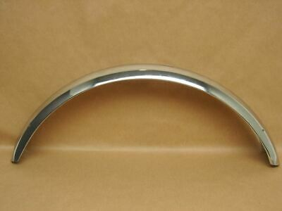 """Vintage NOS Stainless Steel Chrome 24"""" Balloon Tire Front Fender 3"""" Wide"""