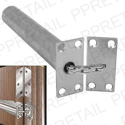 HEAVY DUTY CHROME CONCEALED DOOR CLOSER Chain Spring Mortice FIRE RATED