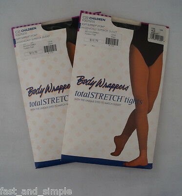 Body Wrappers C11 Girls/' Size S//M 4-7 Jazzy Tan Over The Boot Skate Tights