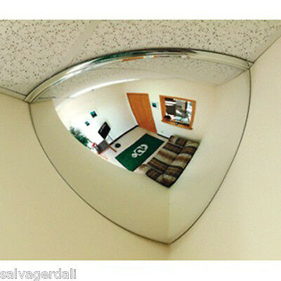 """32"""" Security Mirror 90 Degree Quarter (1/4) Ceiling Corner Dome Safety View New"""