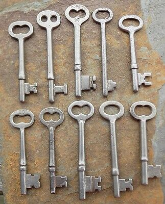 10  Antique  Mortise Lock Skeleton Keys  Antique & Vintage Door Keys