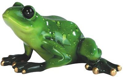 "5.5"" Green Frog Sitting Figurine Figure Animal Amphibian Decor Statue"