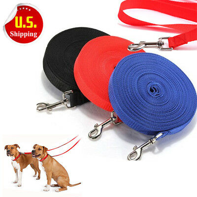 Newest 6/15/20/30/50/100 FT Dog Leash Obedience Recall Foot Feet Training Lead