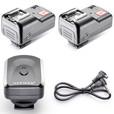 New 4 Channels Wireless Flash Trigger + 2 Receivers for Yongnuo Canon Nikon USA