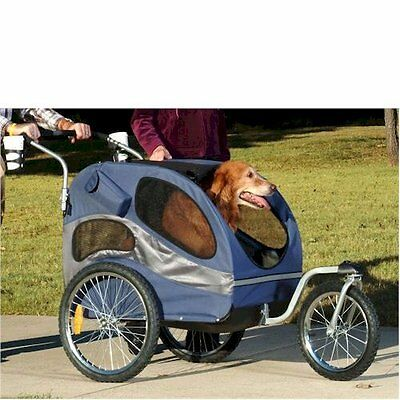 HoundAbout II Medium or Large Pet Dog  Stroller and Bicycle Trailer Combination