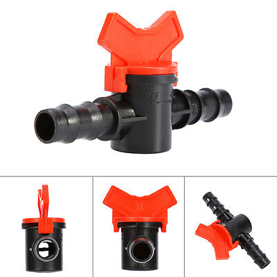 Plastic Connector Water Hose Pipe Tap Drip Irrigation Barb Ball Valve Garden Hot