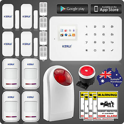 KERUI GSM SMS Wireless Home Security Alarm System motion detector 2G network