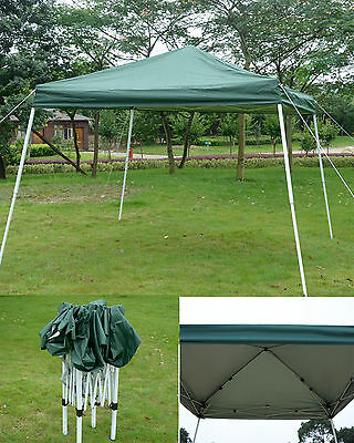New 3X3M Pop Up Folding Gazebo Wedding Party Tent Marquee Canopy Awning Green
