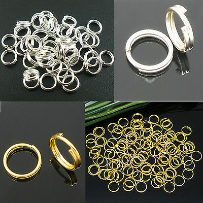 200-450pcs 4-12mm plated Jump rings split double Open Connectors Jewelry Making
