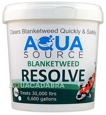 Aqua Source Blanket Weed Resolve Water Treatment Blanketweed Pond Fish Koi New