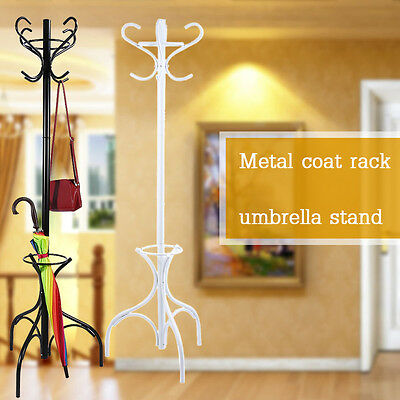 Tree Style 8 Hooks Hat Coat Clothes Rack Metal Home Umbrella Stand Base Ring AU