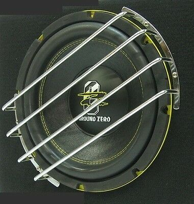 """GRILE PROTECTIVE BARS FOR 12"""" / 30cm SUBWOOFER SPEAKER, GRILL GRIL, COVER CHROME"""