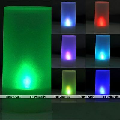Romantic LED Electronic Flameless 7 Colors Changing Flickering Candle Light